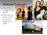 Madame Tussaud's. It is a famous museum of wax figures. They have wax figures of all the famous people in the world.