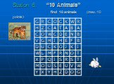 "Station 6. ""10 Animals"" find 10 animals (max. 10 points)"