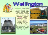 Wellington is the capital of New Zealand, the country's second largest urban area and the most populous national capital in Oceania. The population is about 449,000 people. Wellington is New Zealand's political centre, housing Parliament and the head offices of all government ministries and departme