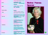 Mother: Frances Spencer