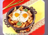 Fried potatoes with fried eggs