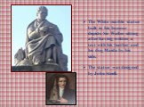 The White marble statue built in his honour depicts Sir Walter sitting after having written a text with his feather and his dog Maida by his side. The statue was designed by John Steell.