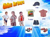 Clothes for boys cap shirt shorts trainers