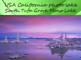USA California photo lake South Tufa Grove Mono Lake