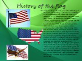 "History of the flag. The national flag of the USA - one of the oldest flags in the world. The first flag of the USA is considered to be the Continental flag, which was raised by 2 December, 1775 lieutenant John Paul Jones on the ship ""Alfred"" in the harbor Filadelfia.Flag for ""Alfred&"