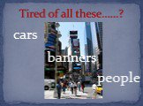 cars people banners