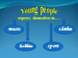 Young people express themselves in….. music hobbies sport clothes