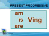 пятница, 22 декабря 2017 г. PRESENT PROGRESSIVE Ving be am is are