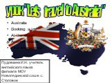 """Australia Booking a trip At the airport Accommodation First impressions. урок """"Let's travel to Australia"""""""