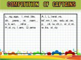 COMPETITION OF CAPTAINS