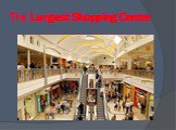 The Largest Shopping Centre