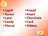 Cupid Arrow Lace Candy Flower. Friend Heart Chocolate Card Ribbon