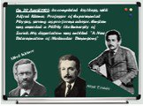 """On 30 April 1905, he completed his thesis, with Alfred Kleiner, Professor of Experimental Physics, serving as pro-forma advisor. Einstein was awarded a PhD by the University of Zurich. His dissertation was entitled """"A New Determination of Molecular Dimensions"""". Alfred Kleiner"""
