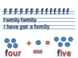 F F F F F F F f f f f f f f Family family I have got a family + = one