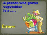 A person who grows vegetables is a … . farmer