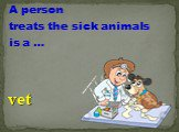 A person treats the sick animals is a …. vet