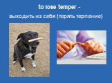 to lose temper -