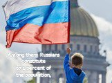 Among them Russians constitute 67.2 percent of the population,