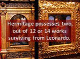 Hermitage possesses two, out of 12 or 14 works surviving from Leonardo.