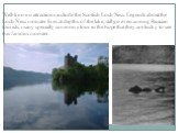 Well-known attractions include the Scottish Loch Ness. Legends about the Loch Ness monster lives at depths of the lake, still go even among Russian tourists, many specially come on a tour in the hope that they are lucky to see this famous monster.