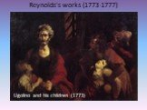 Reynolds's works (1773-1777) Ugolino and his children (1773)