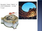 """Recreated theater """"Globe"""" in which Shakespeare worked troupe"""