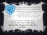 Founded: April 4, 1923. Has been at the forefront of the motion picture industry since its inception and continues to be a leading creative force in the industry. Warner Bros. Pictures produces and distributes a wide-ranging slate of some 18-22 films each year. Among the films on Warner Bros. Pictur
