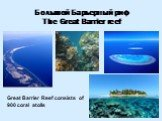 Большой Барьерный риф The Great Barrier reef. Great Barrier Reef consists of 900 coral atolls
