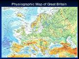Physiographic Map of Great Britain. Лягушка